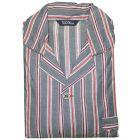 Grey and Wine Stripe Easycare Elastic Waist Pyjamas