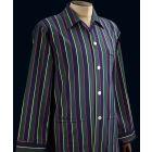 Elastic Waist Cotton Pyjamas in a Regimental Stripe using the colours of Argyll & Sutherland Highlanders  From Derek Rose.