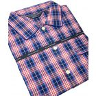 Navy and Red Check Cotton  Nightshirt
