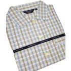 Blue, Beige & Brown Check Cotton Nightshirt