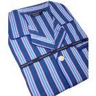 Navy, Blue. Red & Green Stripe Cotton Poplin Pyjamas.