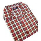 Red Check Brushed Cotton Twill Nighshirt from Tootal
