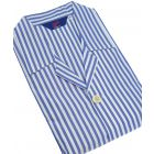 Royal Blue and White Stripe Mens Shortie Pyjamas from Christopher James by Somax