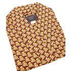 Deep Red Teddy Bears Design Silk Gown