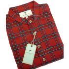 Red Tartan Lee Valley Ireland Flannel Nightshirt - LV27