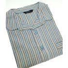 Navy Stripe Cotton Elastic Waist Pyjamas from Tootal