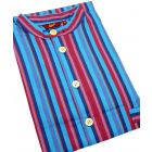 Turquoise Stripes. Cotton Over the Head Nightshirt from Somax