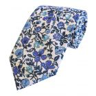 Liberty Print 'Meadow' in Blue Cotton Tie
