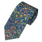 Liberty Print 'Catesby' Design in Blue Cotton Tie