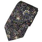 Liberty Print Fabric 'Peach Porter' Design in Blue Cotton Tie