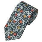 Liberty Print 'Huckleberry' Design in Green Cotton Tie