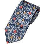 Liberty Print 'Huckleberry' Design in Blue Cotton Tie