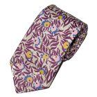 Liberty Print 'Huckleberry' Design in Plum Cotton Tie