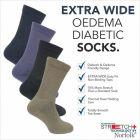 Norfolk Socks - Peter - Mens Extra Stretch with No Elastic Socks -Wool