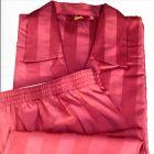 Luxury Satin Stripe Cotton Pyjamas with Elasticated Waist from Somax