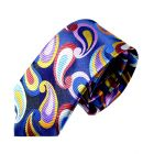 Limited Edition Silk Tie in Deep Blue with Large Paisley Drops from Van Buck