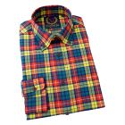Viyella Slim Fit Cotton Shirt with Button Collar in Buchanan Tartan