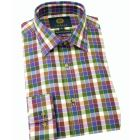 Viyella Cotton and Wool Shirt in Purple and Green Check
