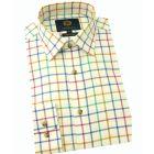 Viyella Cotton Shirt in Bright Open Tattersall Check
