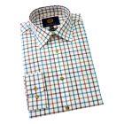 Viyella Cotton and Wool Shirt in Mallard Tattersall Check