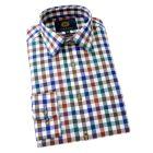 Viyella Cotton and Wool Shirt in Drake Melange Club Check