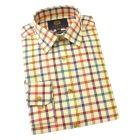 Viyella Cotton and Wool Shirt in Maple Tattersall Check