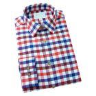 Viyella Cashmere Blend Shirt in Rich Red Club Check