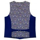 Liberty Peach Pincher Design Patterned Back Navy Waistcoat