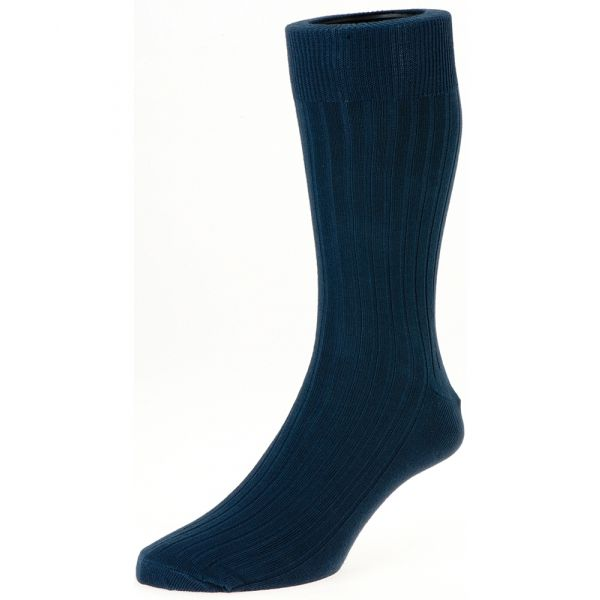 Navy Executive Cotton Rich Sock from H J Hall