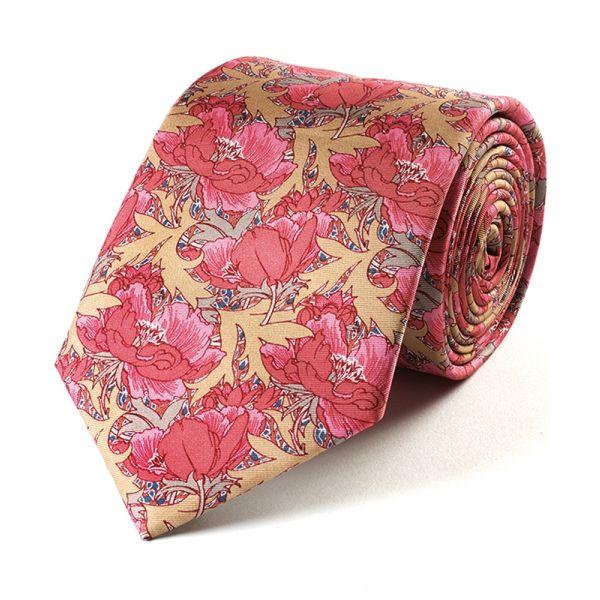 Butterfield Poppy Silk Tie from Fox & Chave