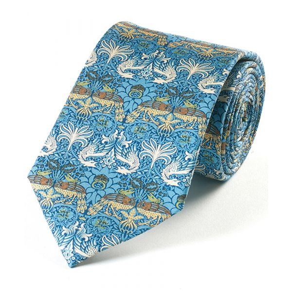 Morris Peacock & Dragon Silk Tie from Fox & Chave