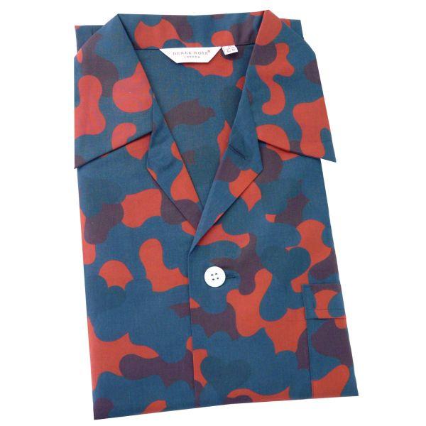 Derek Rose - Mens Cotton Pyjamas - Ledbury 036 - Red