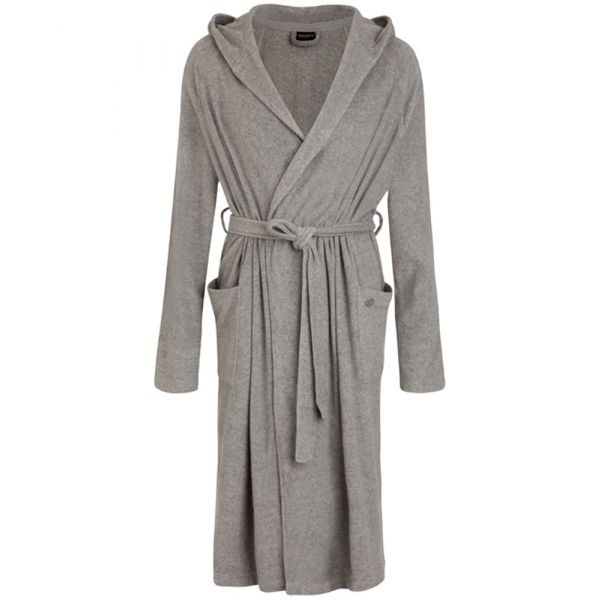 Grey Terry Bathrobe with Hood from Jockey