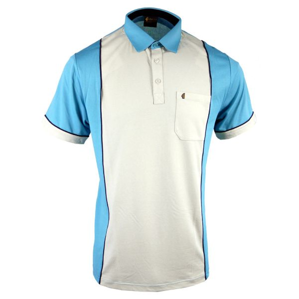 Classic Gabicci Polo Shirt in Two Colour Design-Duck Egg-M