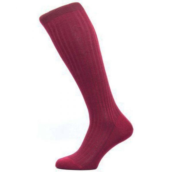 Pantherella Socks - Laburnum  - Mens - Plain - Wool Blend - Full Calf - Long