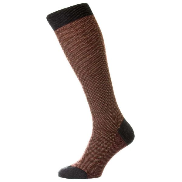 Pantherella Socks - Blenheim - Mens Long Sock - 3 Colour Birdseye - Wool Blend - Full Calf