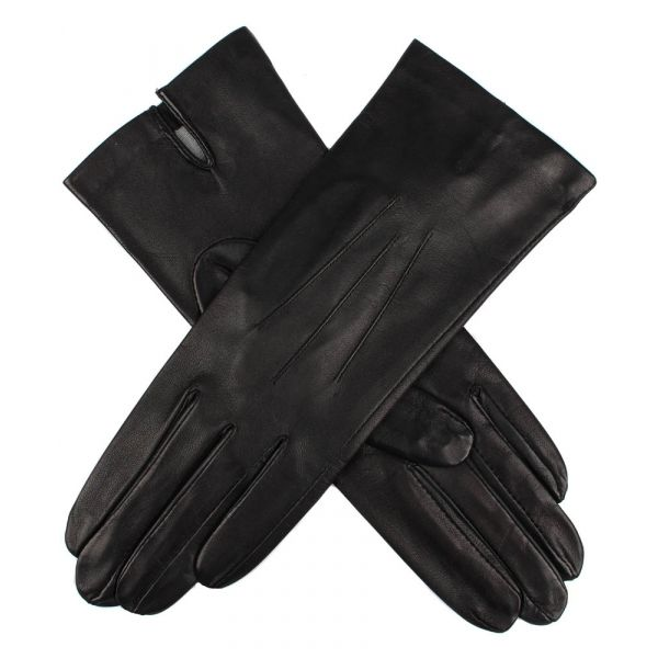 Felicity Black. Ladies Leather Gloves with Silk Lining