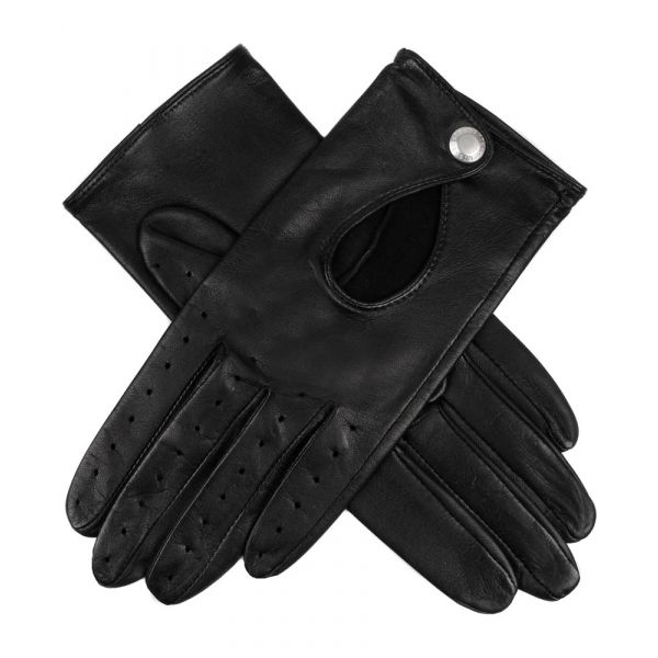 Ladies Driving Gloves with Keyhole Back in Black from Dents.