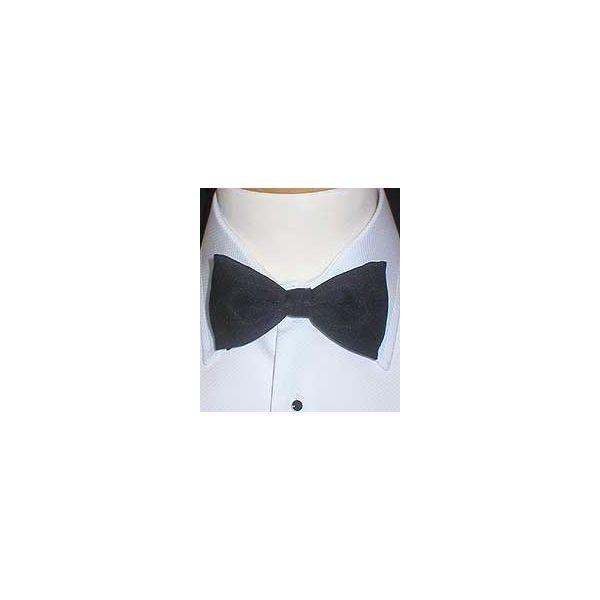 Black Silk Bow Tie (pre-tied)