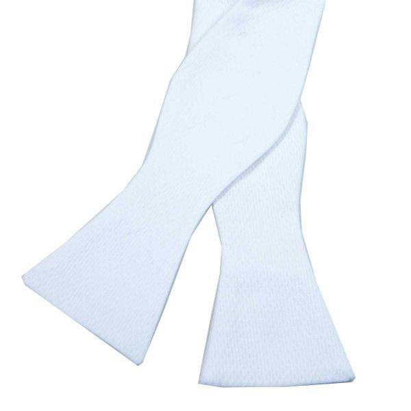 White Marcella Dress Tie (Self Tie)