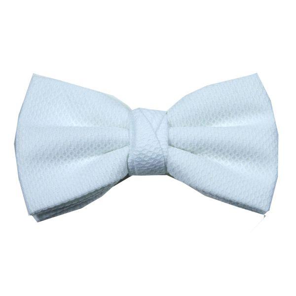 White Marcella Bow Tie (pre tied)