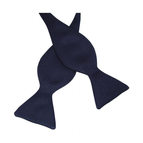 Black Barathea Silk Bow Tie (self-tie)