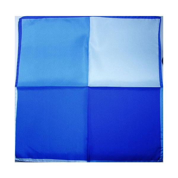 Silk Handkerchief four colour blue