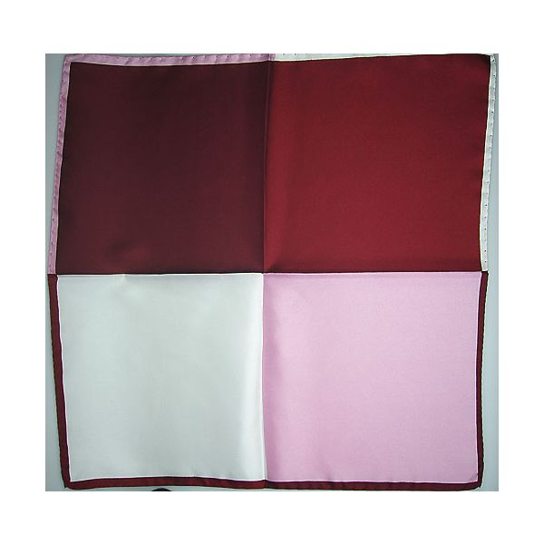 Silk Hankerchief 4 colour maroon