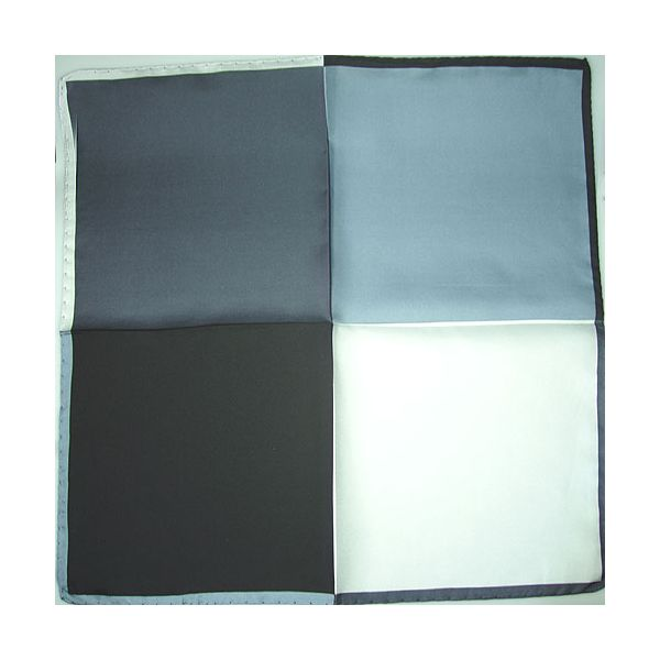 Silk Handkerchief black and white 4 colour