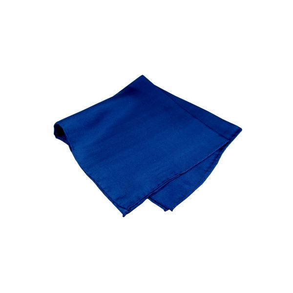 Navy Blue Silk Handkerchief