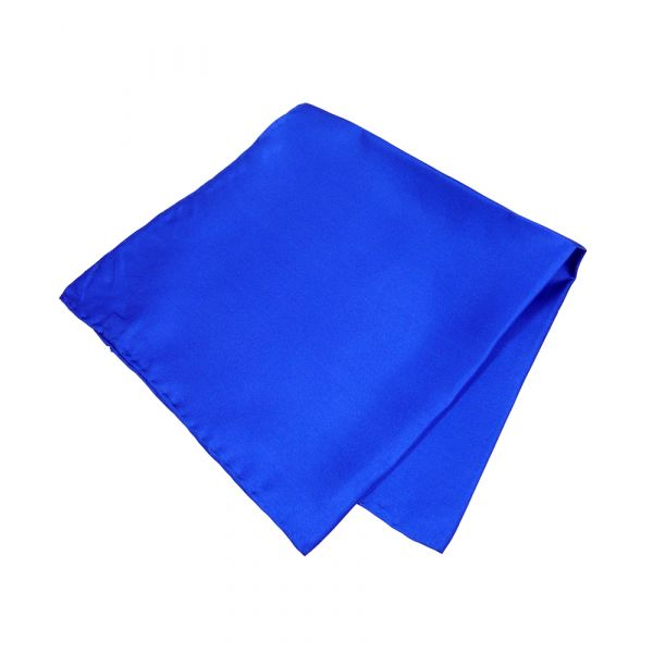 Royal Blue Silk Handkerchief