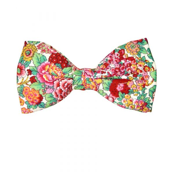 Pink Rose Garden Pre-Tied Bow Tie from Hunt and Holditch.