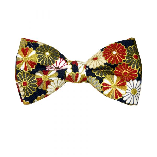 Multi Daisy Design Pre-Tied Bow Tie from Hunt and Holditch.