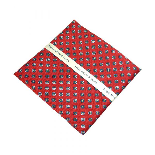 Red Diamond Design Top Pocket Hankie